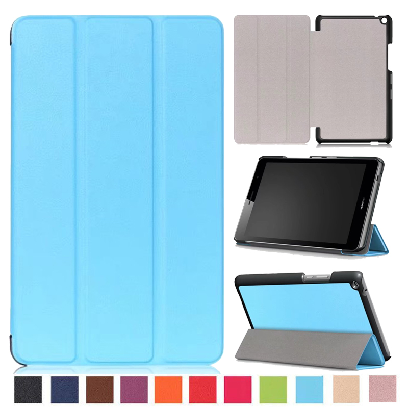 Tablet Case For Huawei Media Pad T3 8.0 Solid Slim Folding Cover Stand Smart Case Tablet PC Protective for huawei T3 8 inch new case for huawei media pad m2 lite ple 703l 7 cover pu leather flip folding case shell tablet pc cases stylus free shipping
