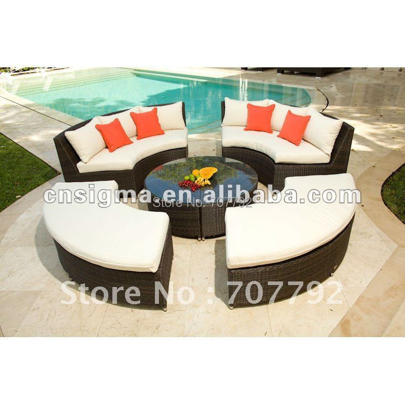All Weather Round Wicker Rattan Outdoor Set(China (Mainland))