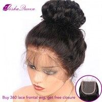 360 Синтетические волосы на кружеве al парик 150% плотность Синтетические волосы на кружеве человеческих волос парики объемная волна бразильск