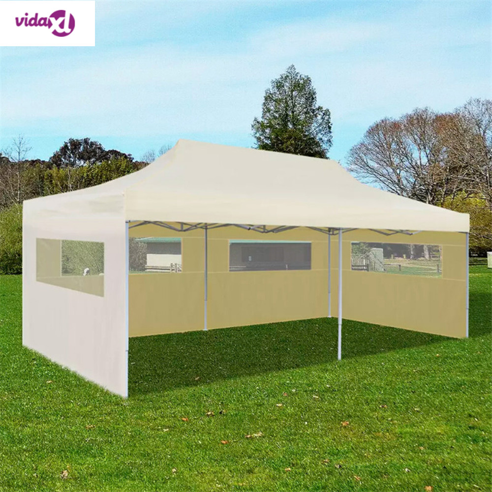 VidaXL 3 X 6 M Cream Foldable Pop Up Party Tent Outdoor Fordable Waterproof Tent Outdoor Parties Beach Tent Sun Shelter Anti UV|Personal Care Appliance Parts| |  - title=