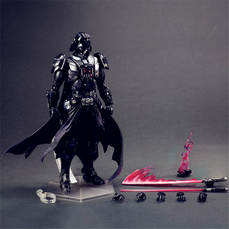 Star Wars PlayArts StromTrooper Luke Skywalker Black Warrior Dark Lord PVC Action Figure Model Giocattolo G1464