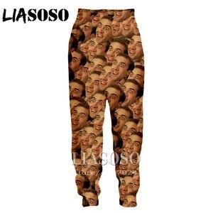 Image 2 - LIASOSO ثلاثية الأبعاد طباعة الرجال النساء الكرتون نيكولاس قفص كامل طول Sweatpants سراويل شتوية أنيمي لطيف عادية مضحك 2019 بنطلون E234
