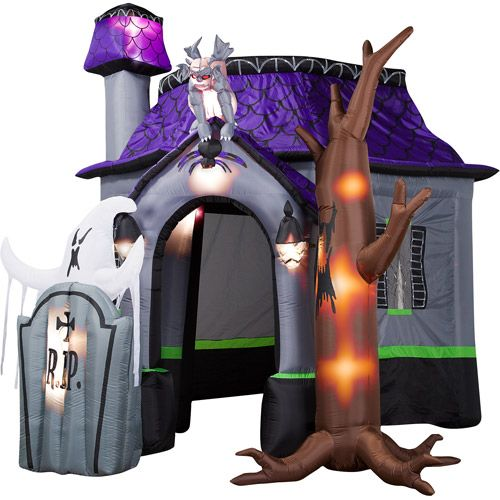 10ft customized new style halloween inflatable haunted house with led lights for decorationchina