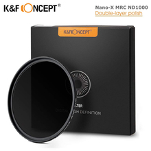 K& F концепция ND1000 ND фильтр 10 стоп Nano-X MRC нейтральная плотность 52 мм 58 мм 62 мм 67 мм 72 мм 77 мм 82 мм фильтр для объектива камеры