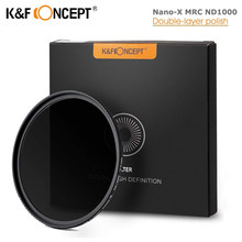 K&F Concept ND1000 ND Filter 10 Stop Nano-X MRC Neutral Density 52mm 58mm 62mm 67mm 72mm 77mm 82mm Camera Variable Lens Filter
