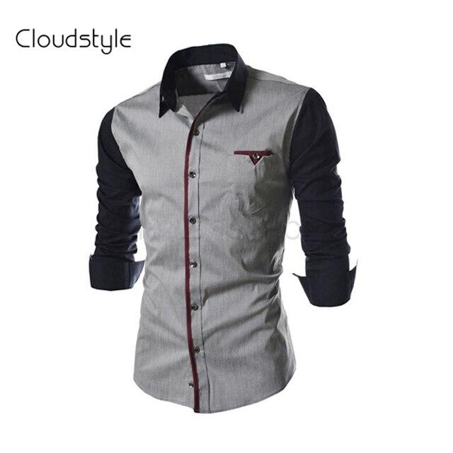 ad52e3301 Clothing Garment Mens Shirts Latest Shirt Designs for Men Fashion Long  Sleeve Mens Shirts 2016 Camisa Dos Homens