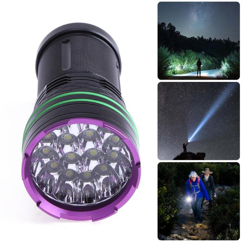 T6 38000 Lumens Led Flash Light 16*xm-l T6 Led Flashlight Torch Lamp Light For Hunting Camping Use Rechargeable 300 Meters 3800 lumens xm l t6 5 modes led tactical flashlight torch waterproof lamp torch hunting flash light lantern for camping