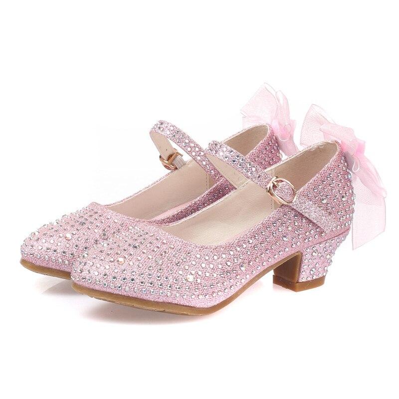 1d7baa15844 Girls Sandals Size Plus 28-37 Heels Soft Leather Glitter Bohemia White  Summer Shoes Girls Gladiator Sandalias kids sandal transparent flip croc  platform ...