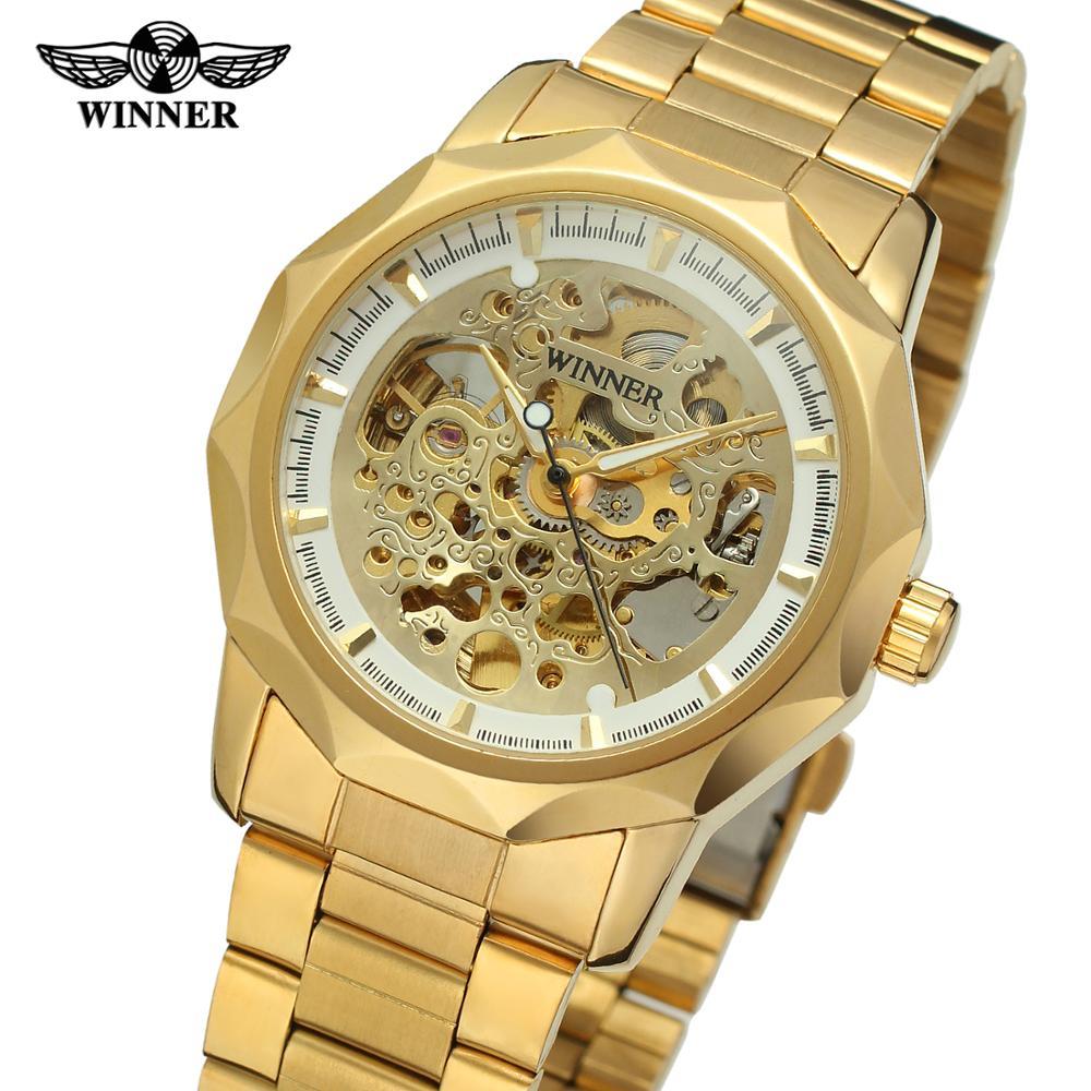 базовые winner skeleton silver automatic watch которые пользуются