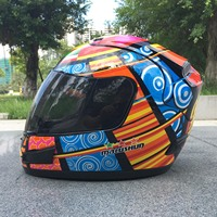 Motorcycle Full Face Helmet Men And Women Racing Fog Seasons Warm MALUSHUN Full Cover Personality Locomotive
