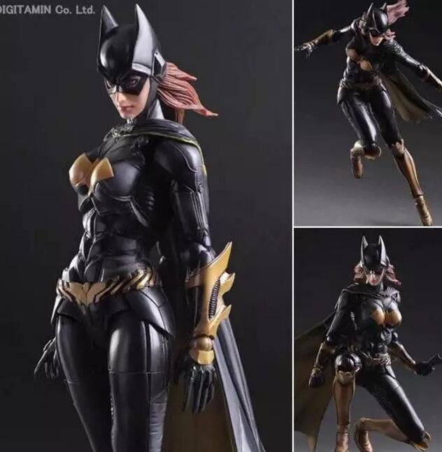 Batgirl Action Figure Play Arts Kai Batman Arkham Knight PVC Figure Toy Movie Bat Man Playarts Kai Model Justice League PA16 gogues gallery two face batman figure batman play arts kai play art kai pvc action figure bat man bruce wayne 26cm doll toy
