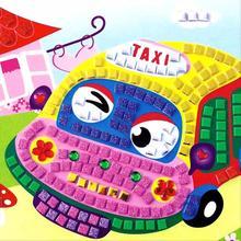3D EVA Foam Cartoon Car Mosaics Art Stickers Painting Children Kids Game Multicolor Puzzle DIY Handmade Craft
