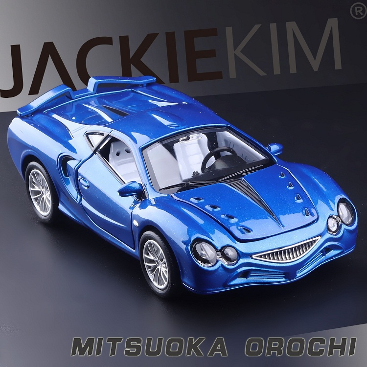 High Simulation Exquisite Collection Baby Toys: CaiPo Car Styling Mitsuoka OROCHI Model 1:32 Alloy Supercar Model Best Gifts
