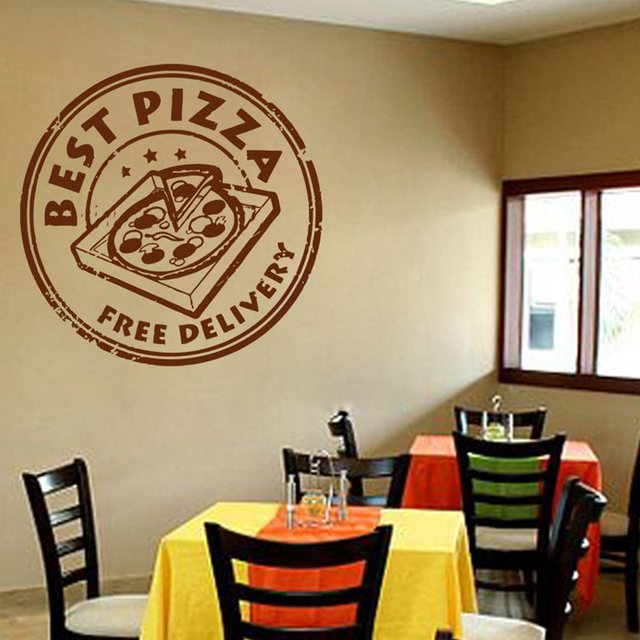 Pizza sticker food decal poster vinyl art wall decals pegatina quadro parede decor mural pizza sticker