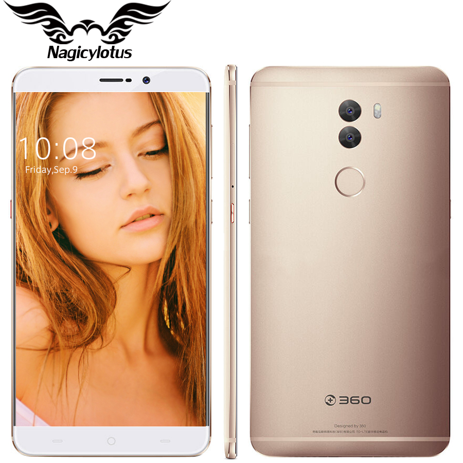 Original 360 Q5 5.5 inch 4G LTE Snapdragon 652 Octa Core 1.8GHz 4GB RAM 128GB ROM Dual 13.0MP Android 6.0 3200mAh Mobile Phone