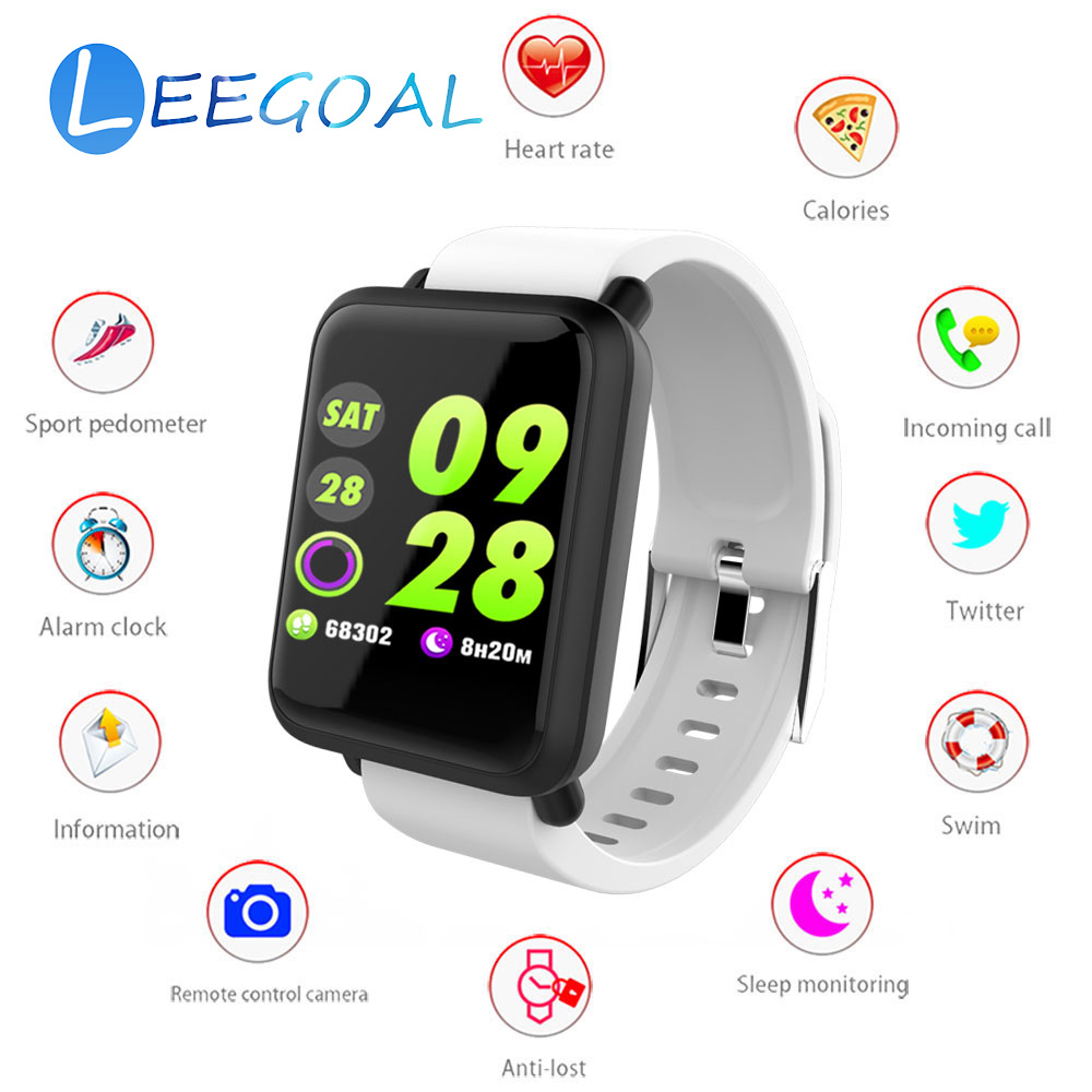 Us 3192 20 Offbluetooth Smart Watch M28 Square Screen Change Wallpaper Sleep Monitor Pedometer Blood Pressure Dynamic Heart Rate Goal Tracking In