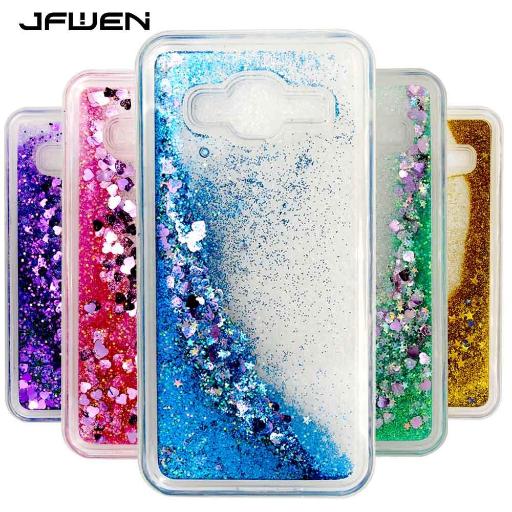 Galleria fotografica JFWEN Phone Case For Coque Samsung Galaxy J3 2016 Case Silicon Dynamic Liquid Glitter Soft TPU Case For Samsung Galaxy J3 Cover