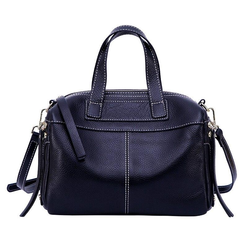 แบรนด์ที่มีชื่อเสียงหนังแท้กระเป๋าสะพายกระเป๋าถือหรูผู้หญิงกระเป๋าออกแบบ Vintage ขนาดใหญ่ Casual Tote กระเป๋าหญิง-ใน กระเป๋าหูหิ้วด้านบน จาก สัมภาระและกระเป๋า บน   2