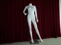 Гуандун производитель напрямую продажа FRP материалов, высокая глянцевая белая женская безголовая манекен для витрины
