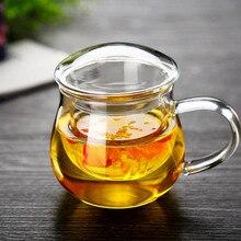New office Glass Teapot creative tea pot high boron silicon heat resistant teapot Christmas gift coffee mug of coffee cups