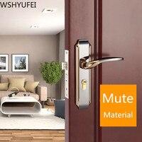 1pcs high quality indoor home bedroom door lock handle home mute room door strong magnetic lock to the left and right