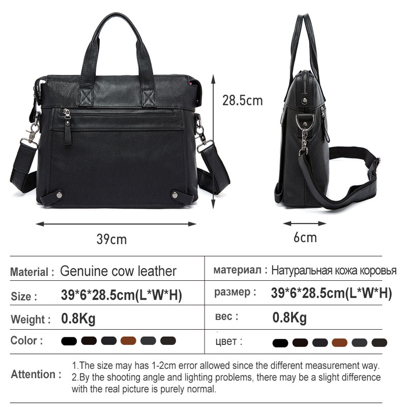 Image 2 - MVA Men Briefcases Genuine Leather Bags Men Briefcase Handbags Office Bags For Men's Bag Leather Laptop Bag Business Briefcases-in Briefcases from Luggage & Bags