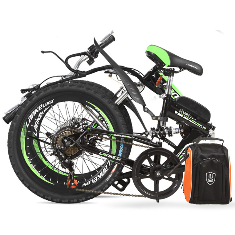 7 Speed, 36/48V, 250W, 20 inches, Folding Bike, Strong Power, Lithium Battery Electric Bicycle, Mountain Bike. mercane m1 three wheeled electric scooter folding lithium battery bicycle