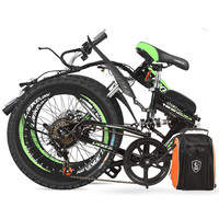7 Speed 36 48V 250W 20 Inches Folding Bike Strong Power Lithium Battery Electric Bicycle Mountain