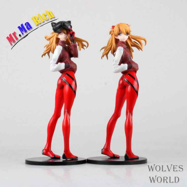 Anime 23 cm Eva Neon Genesis Evangelion Asuka Langley Soryu Pvc Action Figure Toy Model Collection