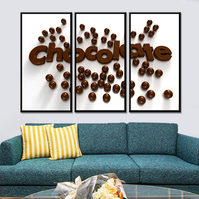 3 unidades pintura chocolate pared Cuadros decorativos cartel Arte ...