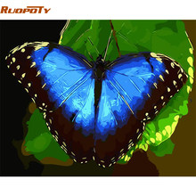 RUOPOTY Frame Butterfly DIY Painting By Numbers Animals Modern Wall Art Paint By Numbers Unique Gift For Home Decor 40x50cm Arts(China)