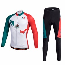 Men's Cycling Clothing Sets 2018 Reflective Racing Bike Bicycle Jersey Long Sleeve & Compression Padded  Tights Kit  XXS-5XL