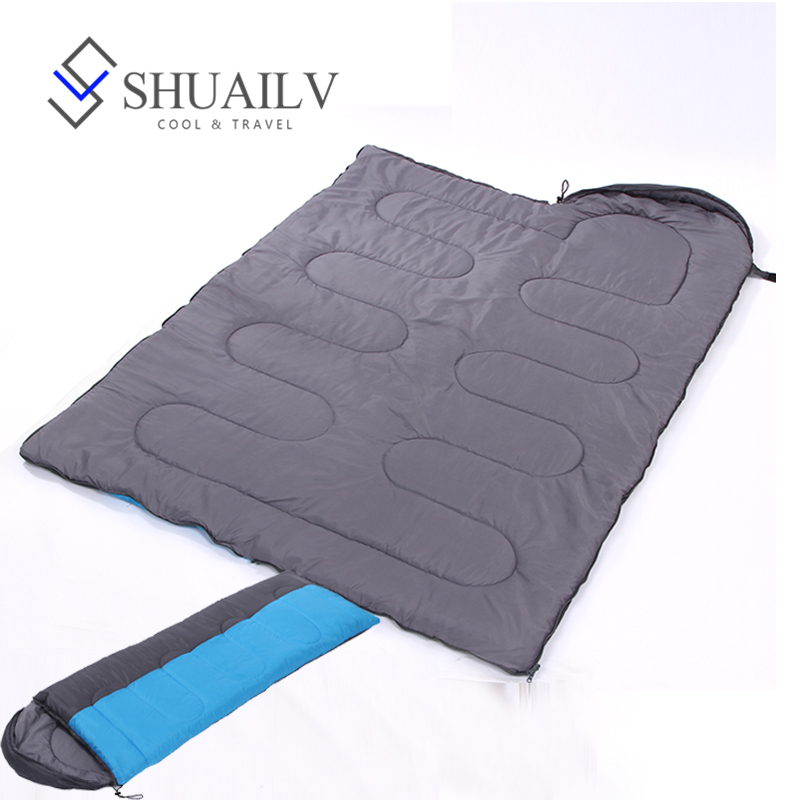 Thickened Envelope Travel Sleeping Bag Adult For Winter Waterproof Lazy Bags Warm Cotton Thermic Bag Zipper Tourist Sleeping Bag winter thicken warm sleeping bag adult envelope outdoor ultralight camping travel bolsa termica waterproof breathable lazy bag