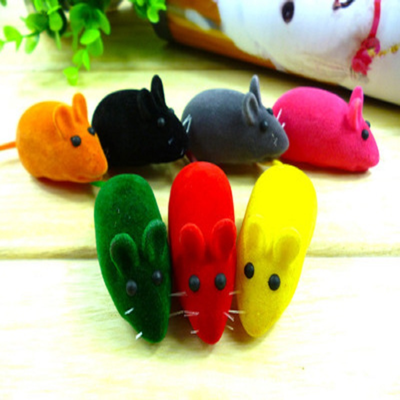 6x3x2.5 Cm Soft Rubber False Mouse Cat Toys with Catnip Funny Playing Toys for Cats Kitten Squeak Toys for Pet Dogs and Cats