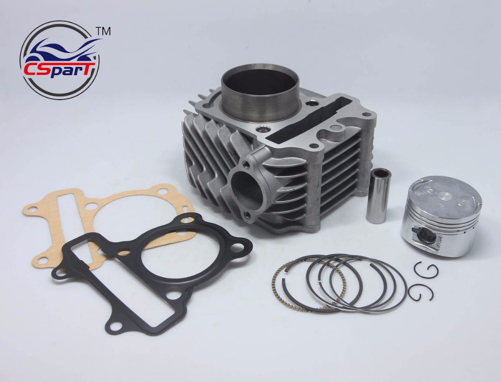 цена на 57.4mm Cylinder Piston Ring Gasket kit Super Glod 158QMJ 150CC Jonway Wangye QianJiang Yiying Keeway Scooter Parts