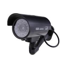 Waterproof Fake Camera Outdoor Indoor Security Fake Surveillance Dummy CCTV Camera Night CAM With Flash LED Light