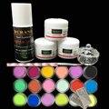 Burano 3 Pcs kit de unhas de acrílico Em Pó Acrílico Líquido 75 ML & 18 pó colorido Dicas Da Arte do Prego Jogo de Manicure potência 2906