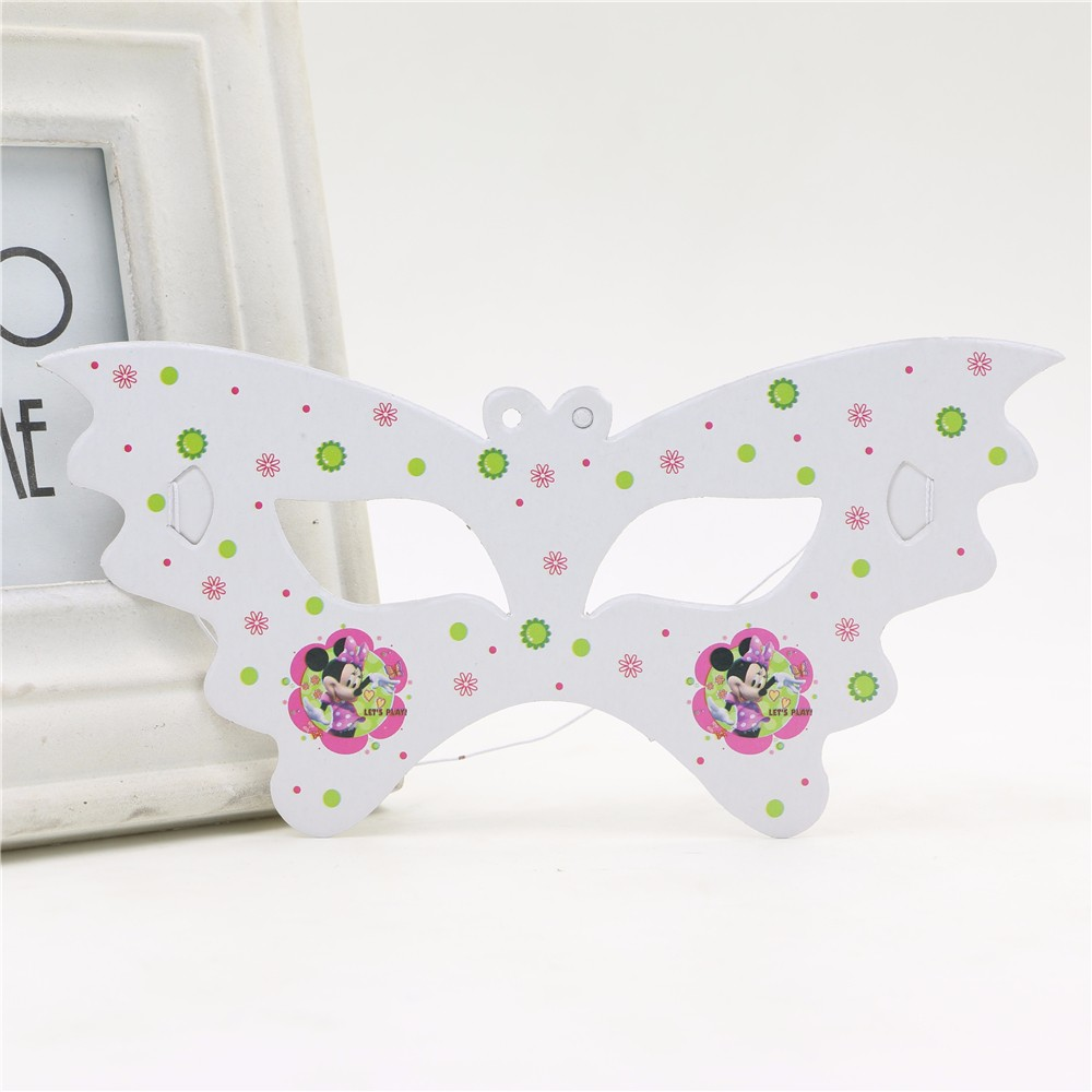 10pclot Birthday Party Cartoon Decoration Creative Eye Cover Minnie mouse Kids Favors Cute Mask Happy Baby Shower Supplies
