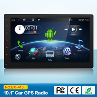 Android 7.1 1024*600 Quad Core 2G 10.1 inch Double 2 din Car GPS DVD Player Bluetooth Stereo Sat Nav RDS WIFI Multimedia