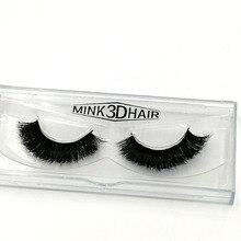 1 Pair 3D Mink Hair False Eyelashes New Thick False Eyelashes Eye Extension