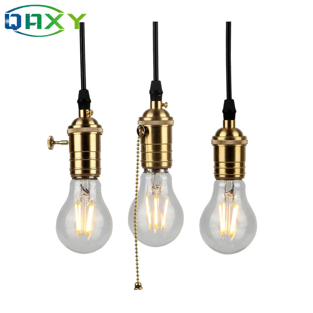 Pure copper Top-Glass Indoor Pendant Lamp Holder Golden Socket E27 Vintage Post-modern Lamp Holder Pendant Light Socket[D5501]
