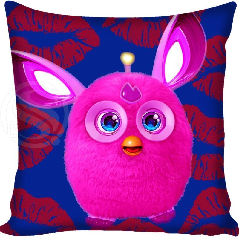 Custom Furby Square Pillowcase Custom Zippered Bedroom Home Pillow Cover Case 1pcs Custom 40x40cm