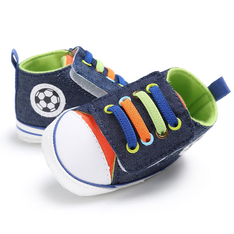 Baby Colorul Shoelaces Casual Sneakers Baby Boy Girl Soft First Walkers Sports Shoes 0-18M RZ