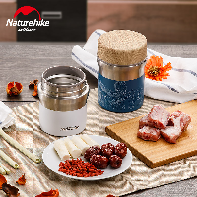 NatureHike 316 Stainless Super long insulated Steel soup flask Vacuum Flask cup Kettle Burning pot Braised beaker food cans|can cup|can food|canned food factory - title=