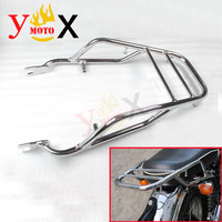 EJ W400 W650 W800 Motorcycle Chrome Rear Rack Touring Tail Luggage Carrier Holder Support Shelf For KAWASAKI W 400 650 800
