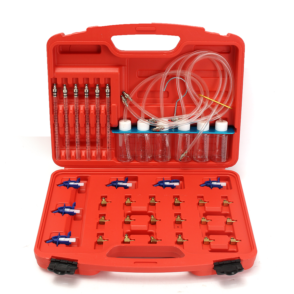 цена на 36Pcs Injector Flow Meter Adapter Test Kits For Common Rail for Diesel Fuel Tester Diagnosis Tool Set 6 injector tested together