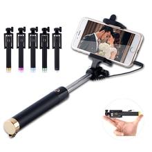 Роскошные Универсальный проводной палка для селфи монопод Штатив для iphone 5S 6 6 S Huawei P8 P9 Lite Samsung S6 S7 Xiaomi Android-смартфон