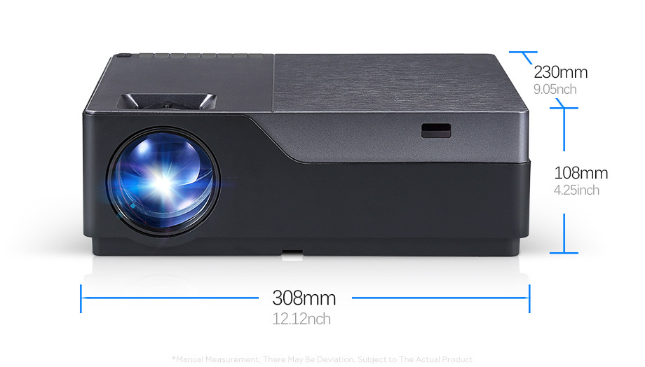 AUN Full HD M18/M18UP 1920x1080P Resolution Mini Projector With WIFI And LED 11
