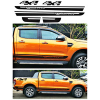 custom for Ford ranger sticker 6pc 4X4 wildtrak stripe styling car side door rear trunk graphic Vinyl modified accessories decal