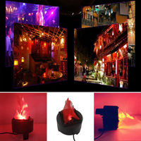Funny Modern Black Novelty LED Artificial Silk Flame Effect Light Lamp Decoration